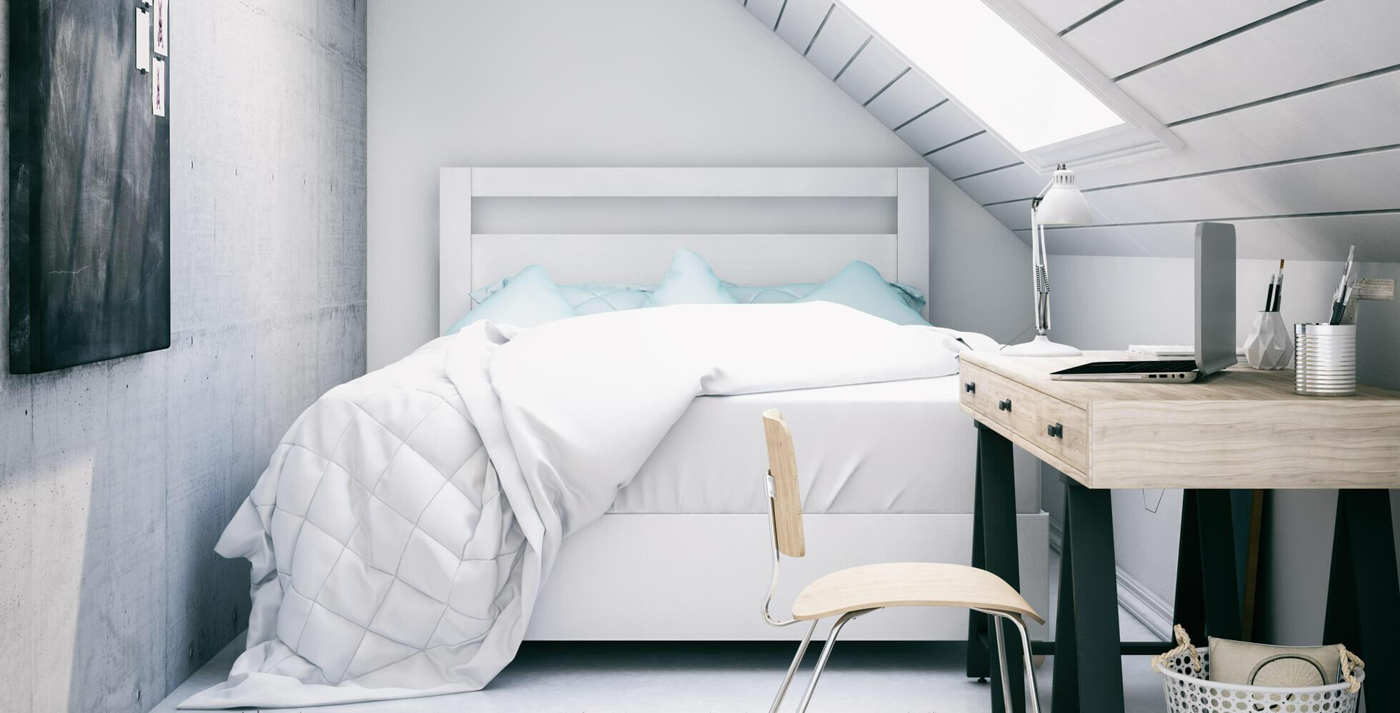 petite chambre mansardée avec velux