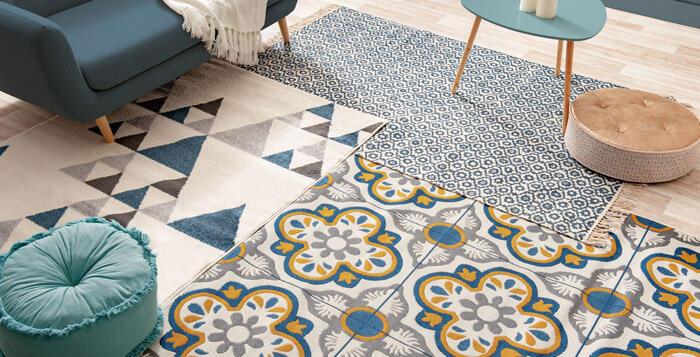 tapis de salon facile a nettoyer
