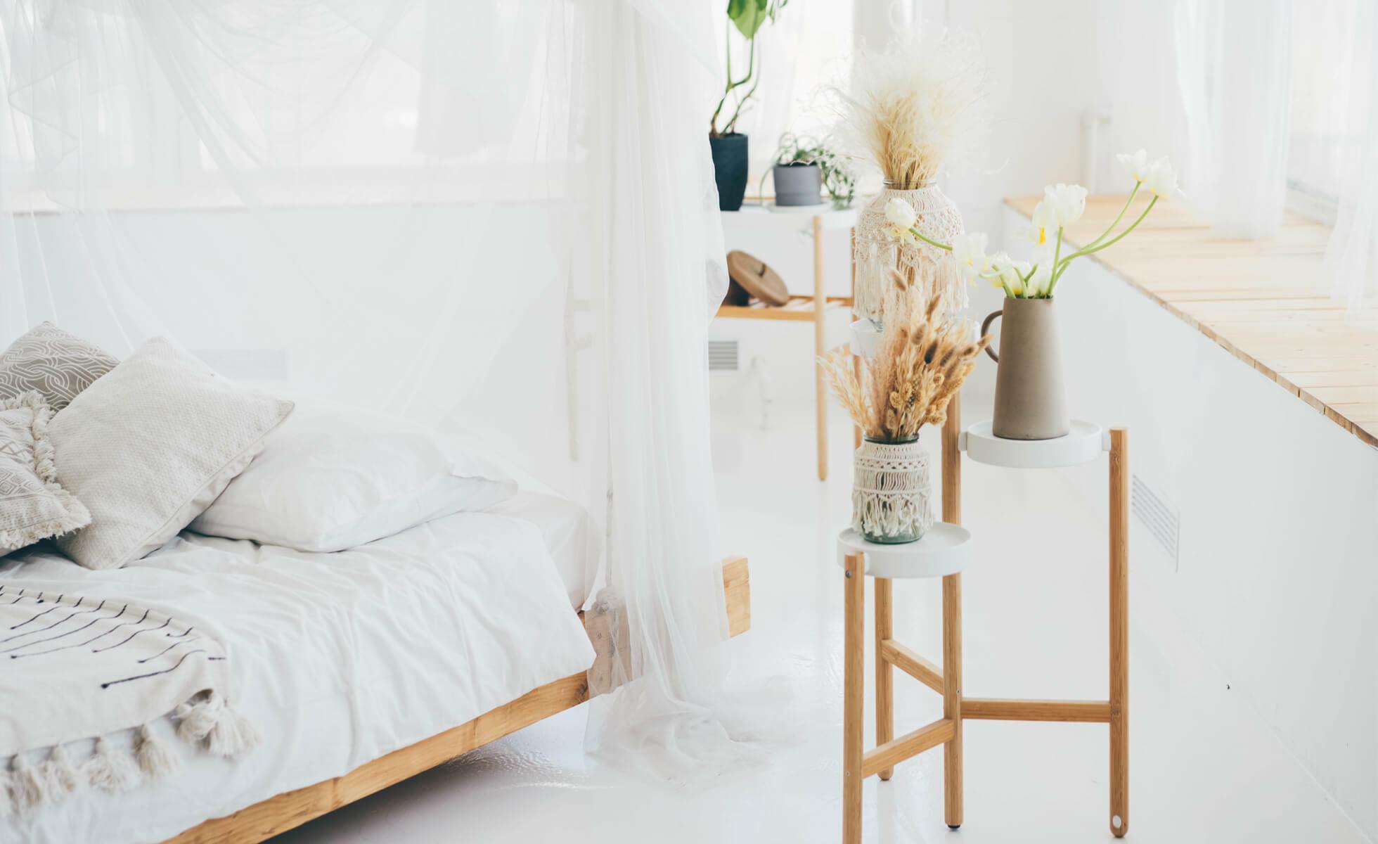 déco chambre blanc et bois