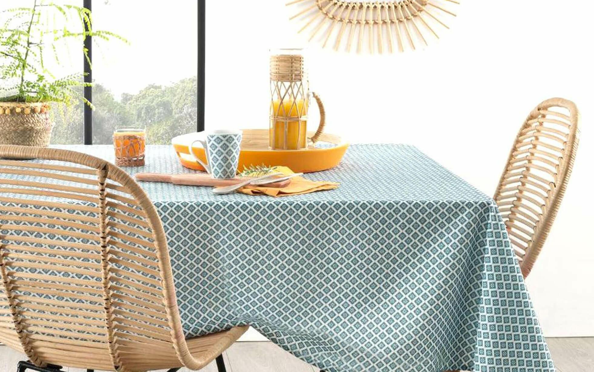 nappe rectangulaire tissus à motifs