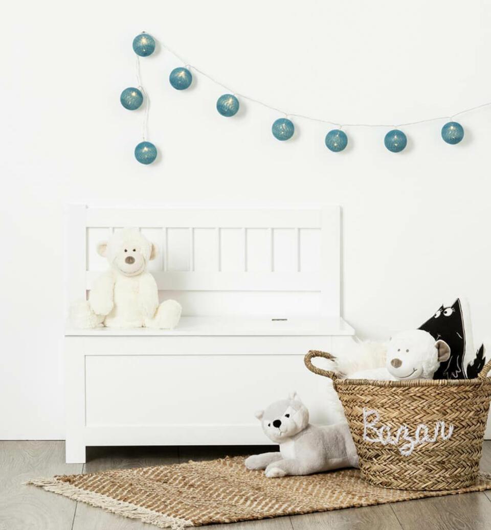 cassapanca per giocattoli bianca