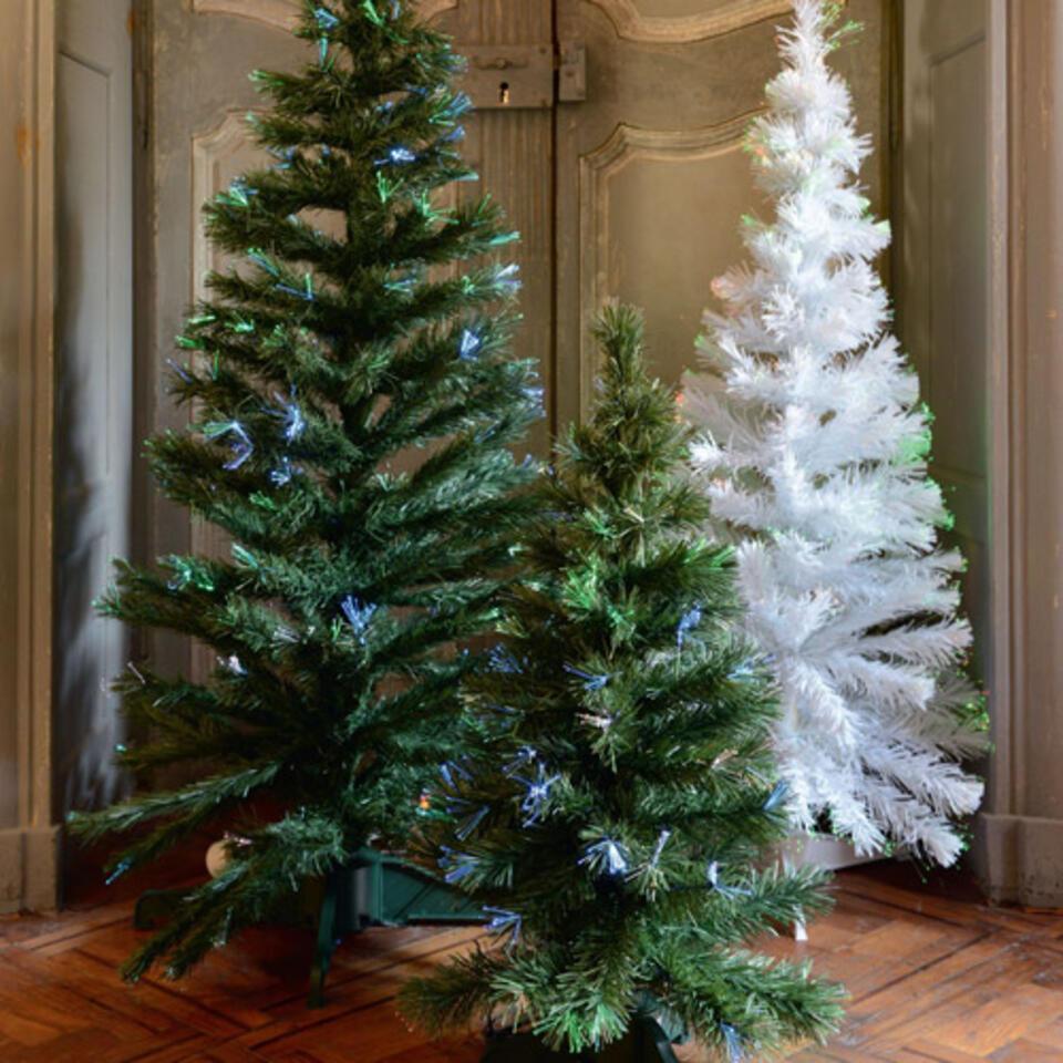 Albero di Natale con ghirlanda multicolore integrata