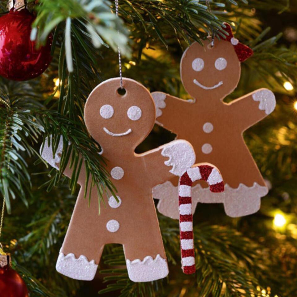 omino in pan di zenzero per albero di Natale