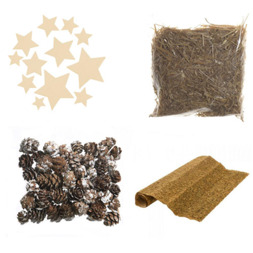 materiali per fabbricare un presepe