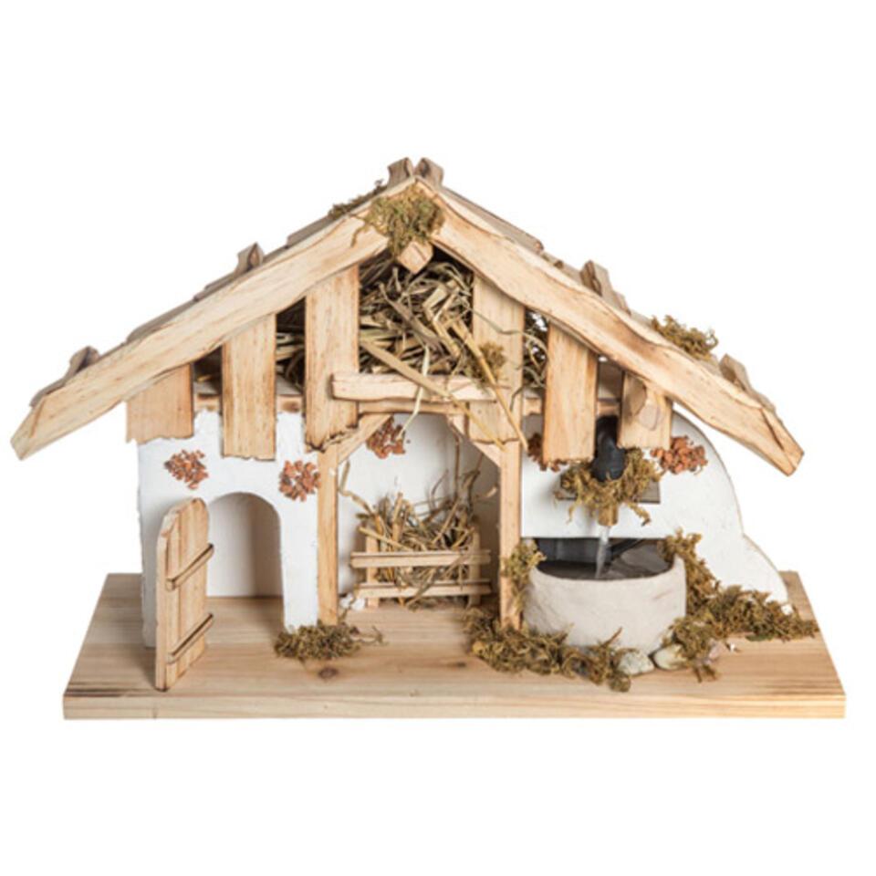 crèche de Noel en bois