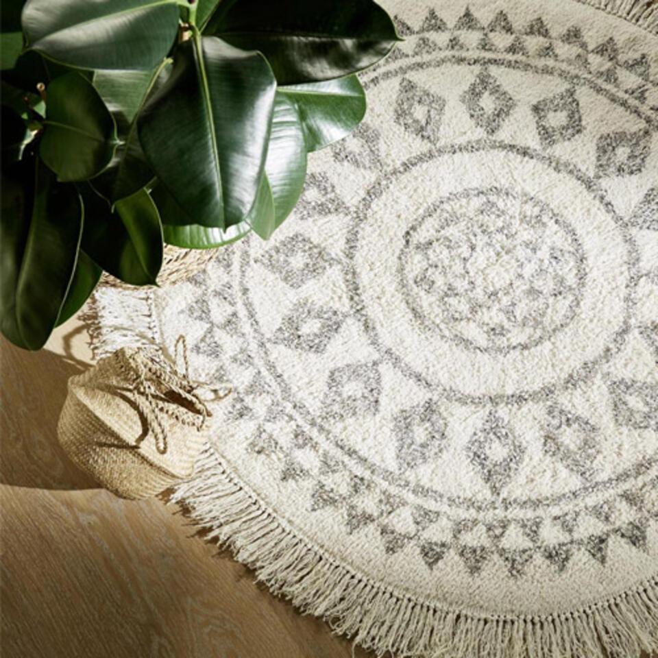 tapis rond motifs ethniques
