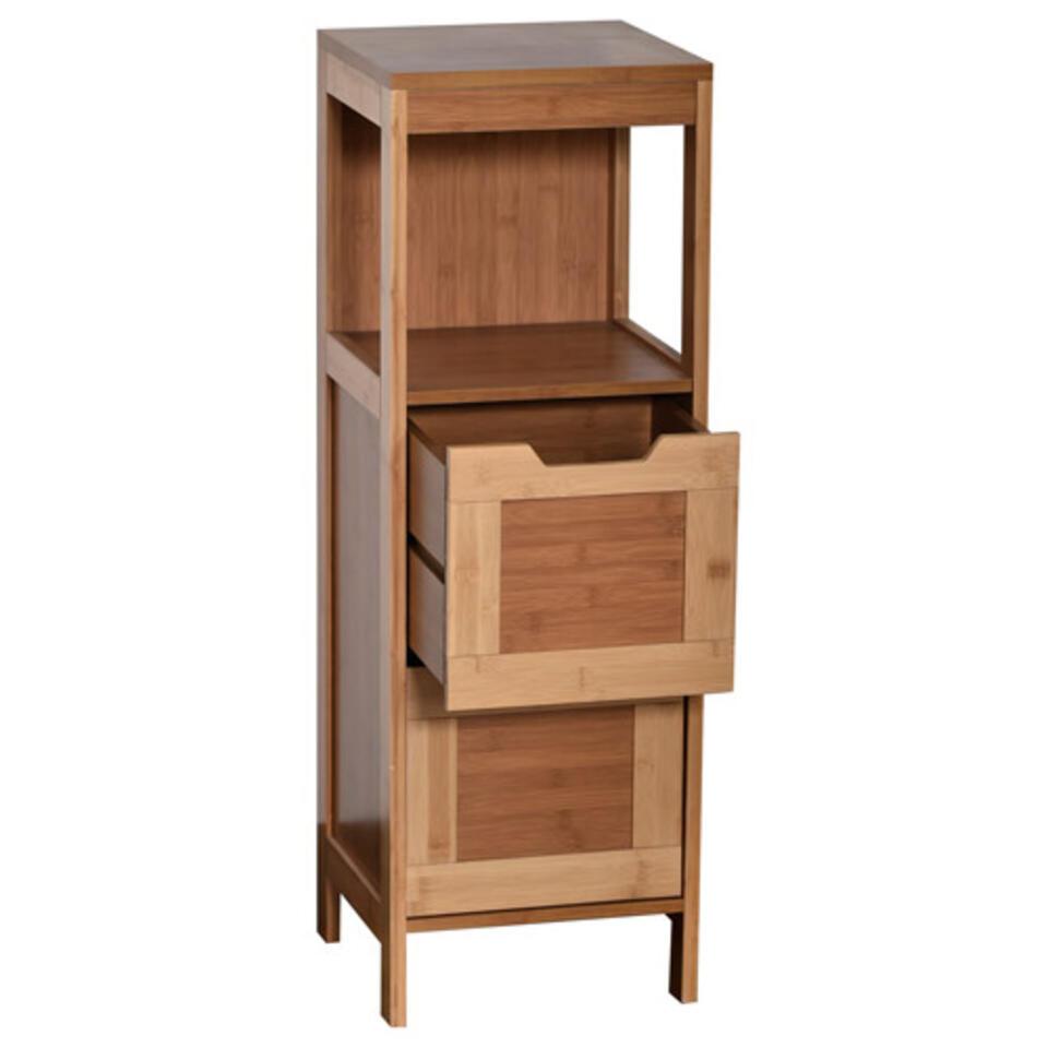 meuble de rangement en bois pour salle de bain