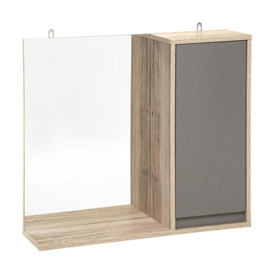 meuble de rangement avec miroir pour salle de bain