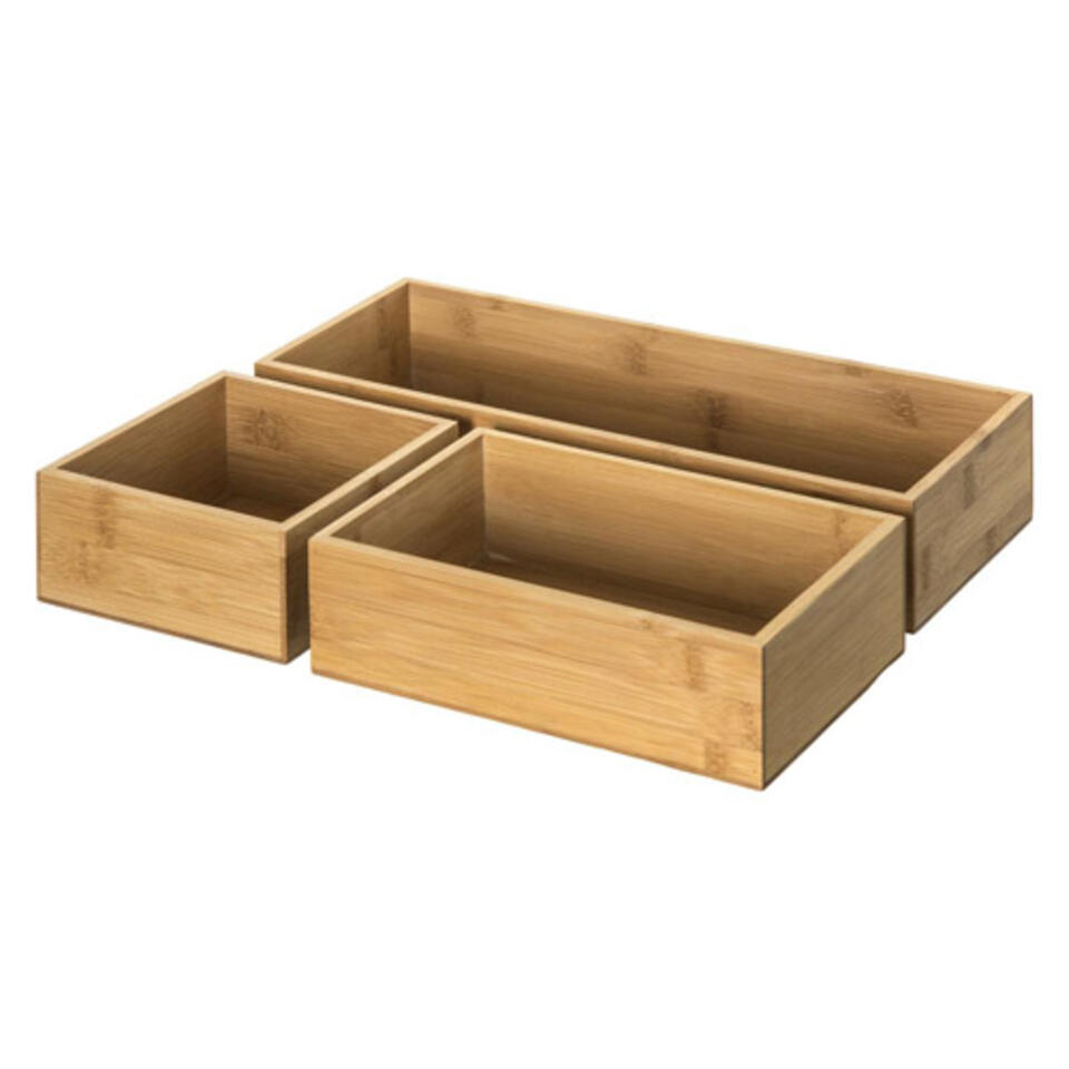 boite de rangement en bambou pour salle de bain