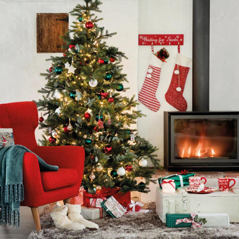 sapin de Noël couleurs rouge et vert