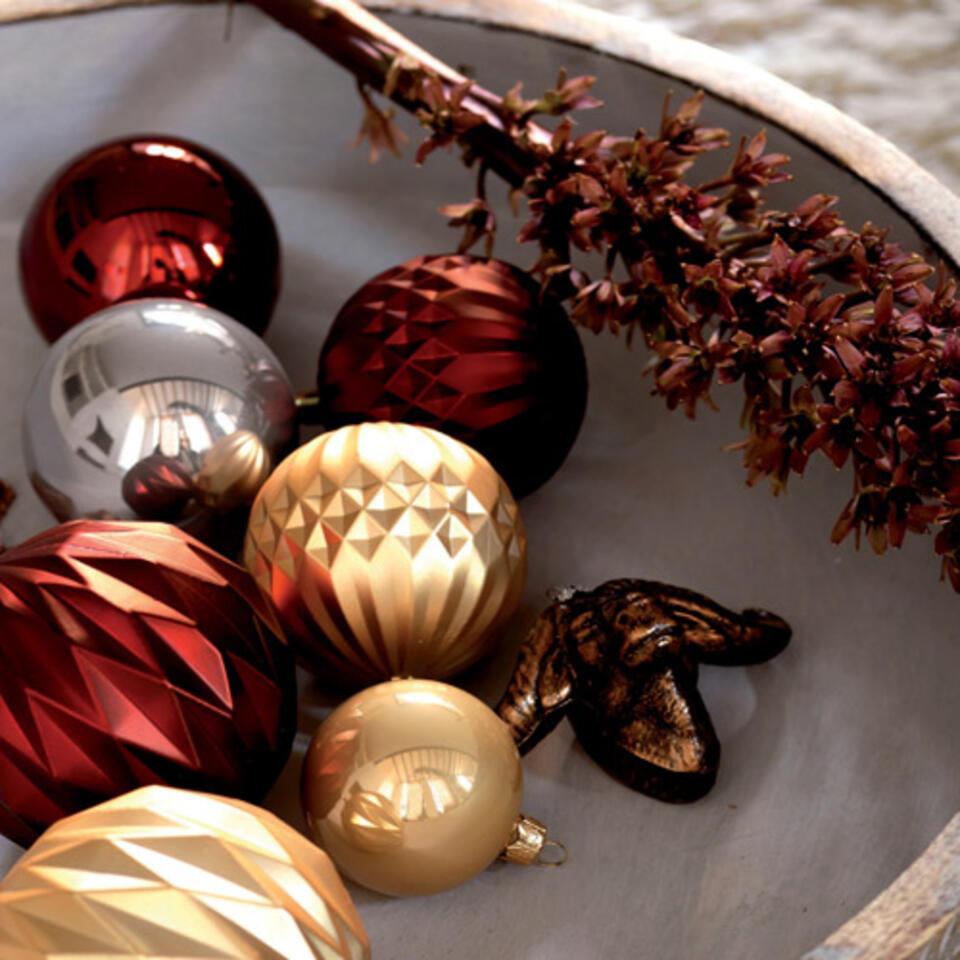 palline di Ntale oro e marron glacé