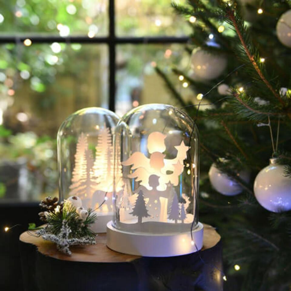 decorazione di Natale sotto campana