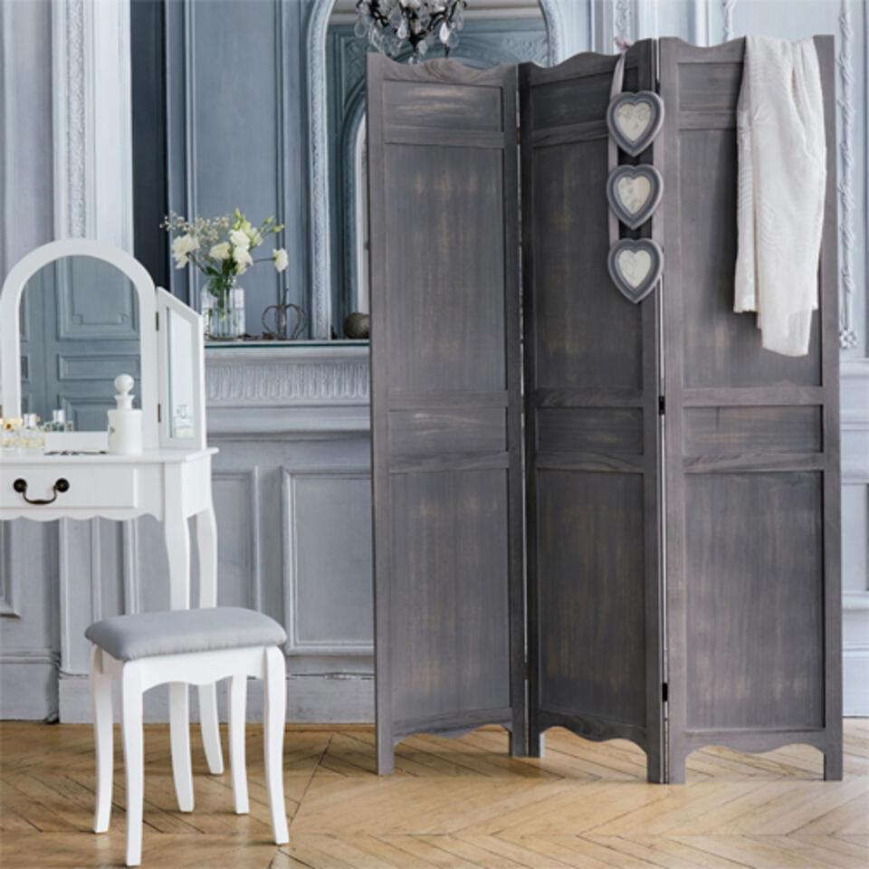 paravento legno grigio
