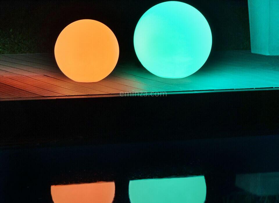 sfere luminose per deocrare il tuo esterno