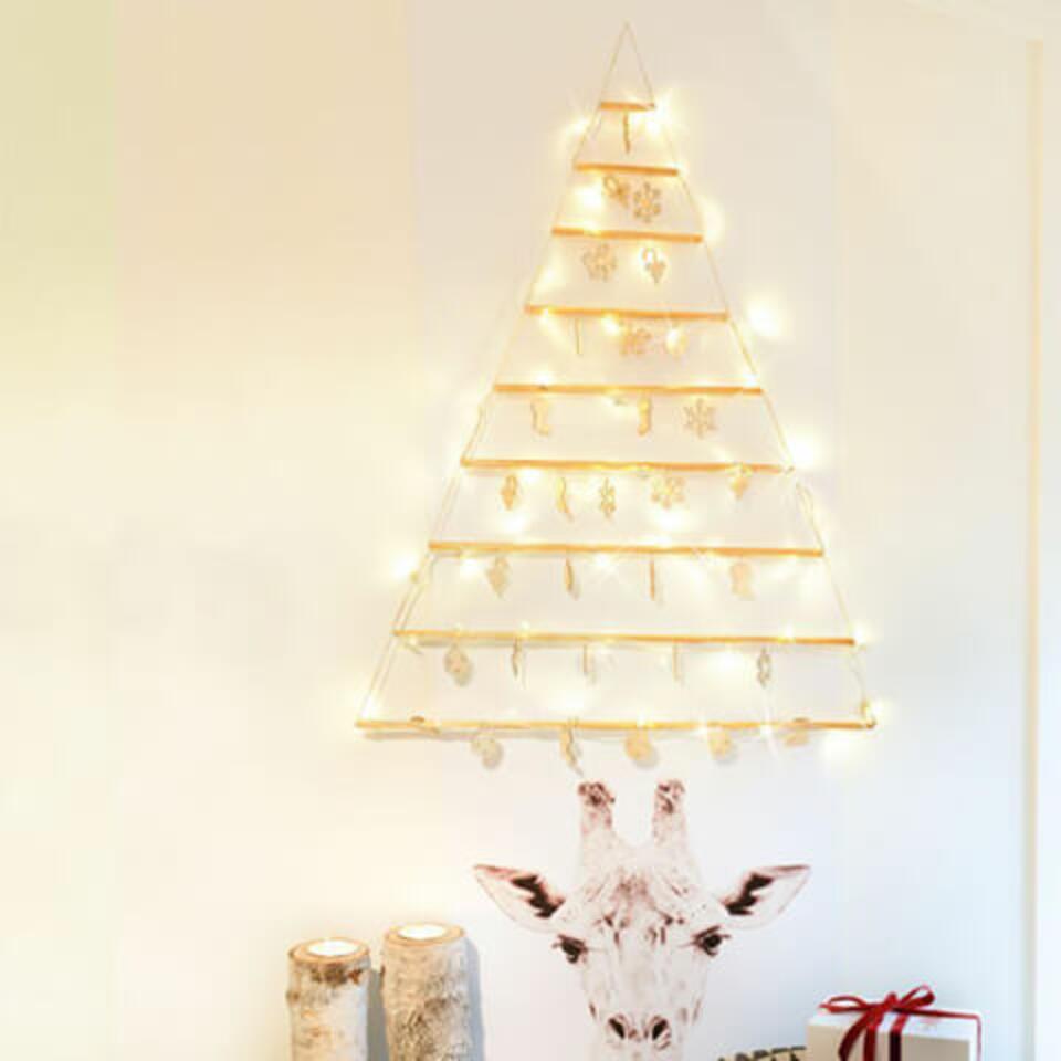 albero luminoso in legno