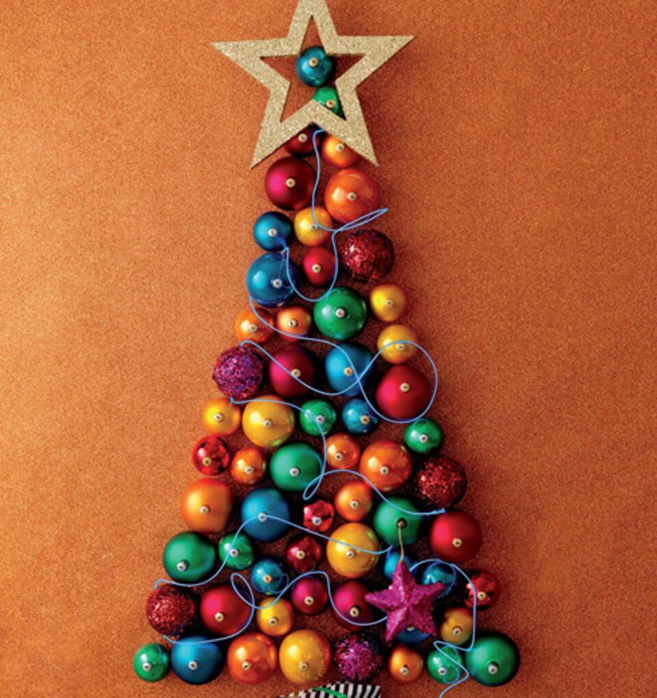 albero di Natale da parete DIY