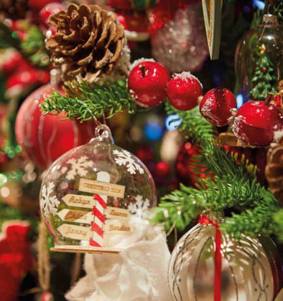 addobbo natalizio originale rosso