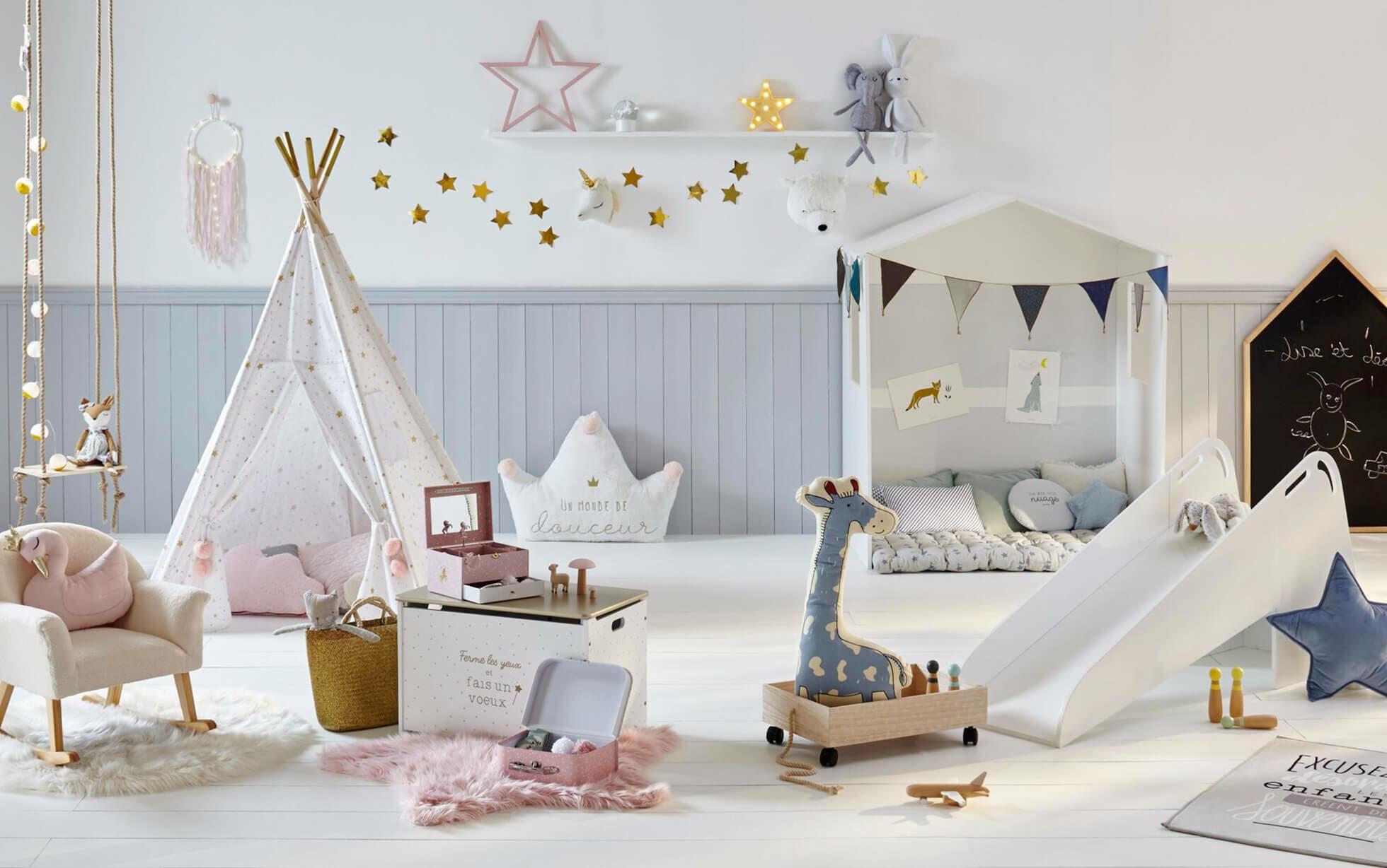 chambre d'enfant aménagée