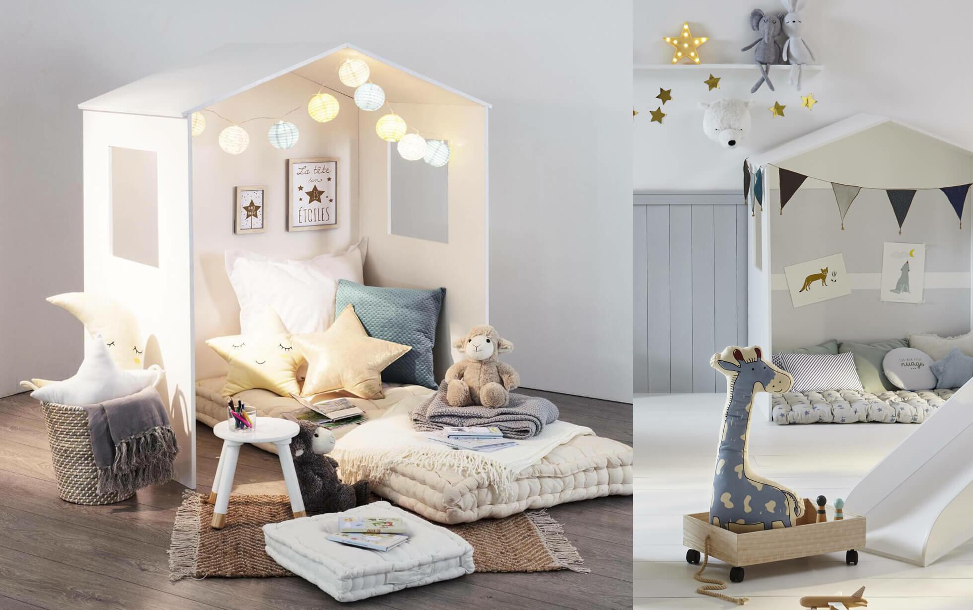 chambre pour enfants avec maison déco