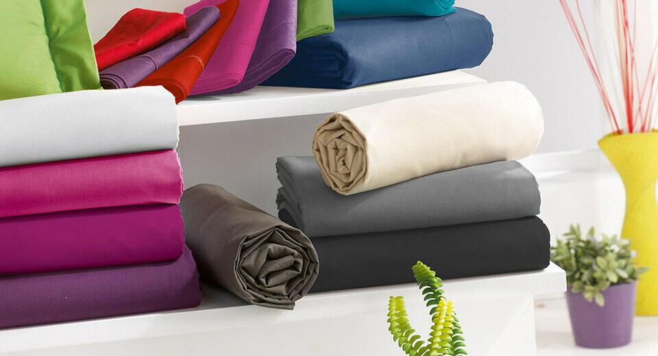 draps plat colorés