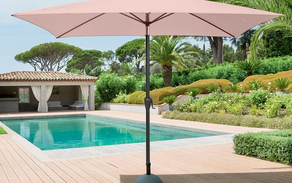 ombrellone classico dritto beige
