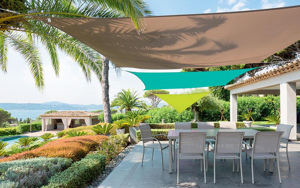 voile d'ombrage sur terrasse