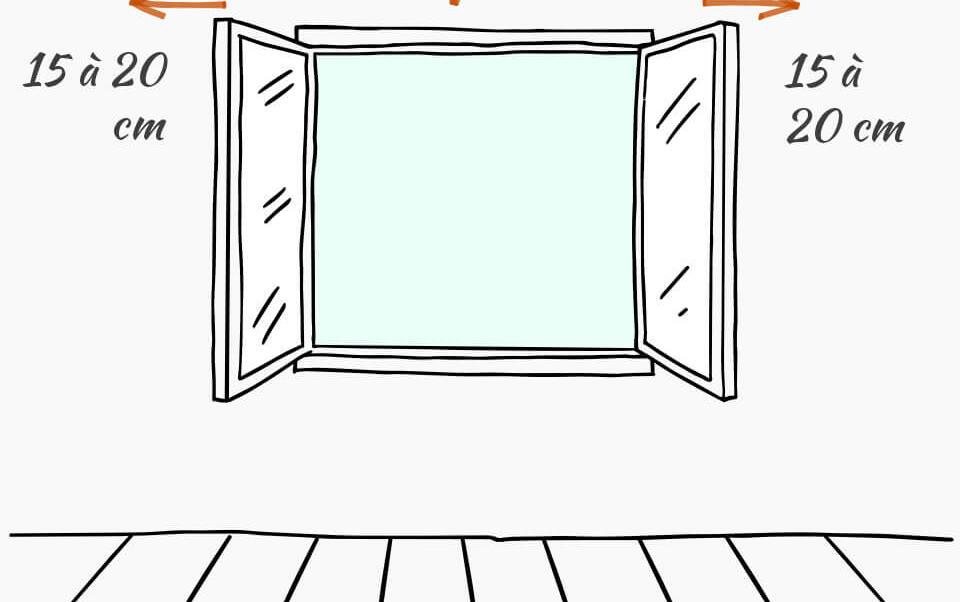 mesures à prendre pour poser ses rideaux