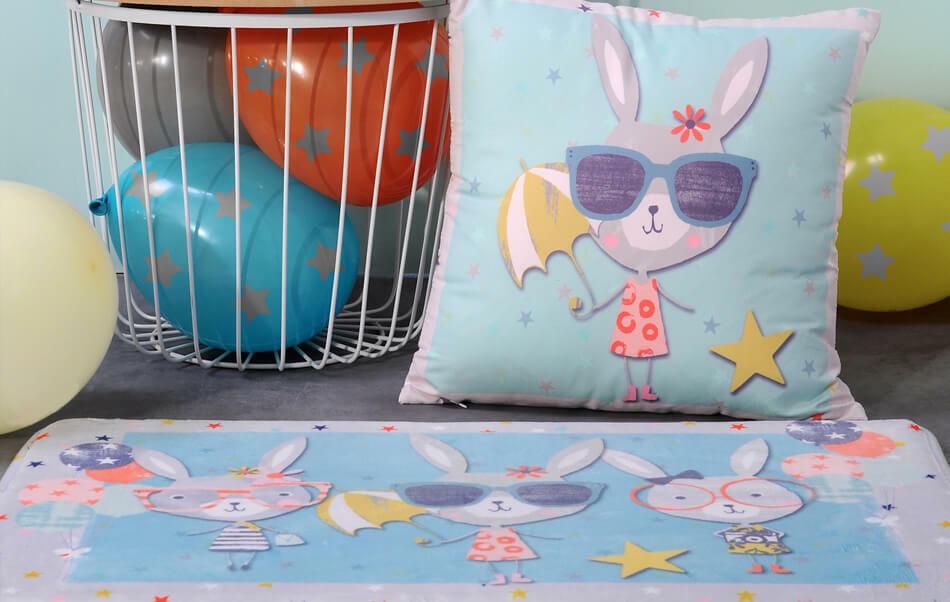 tapis et coussins pour chambre d'enfants