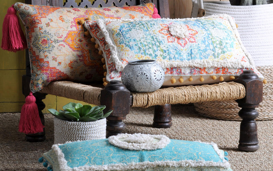 coussins colorés style marocain