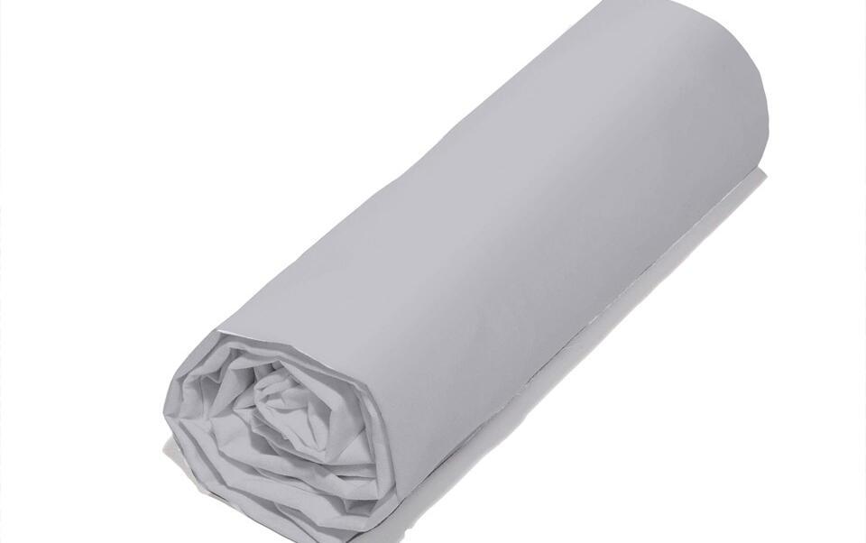 drap housse gris en coton bio