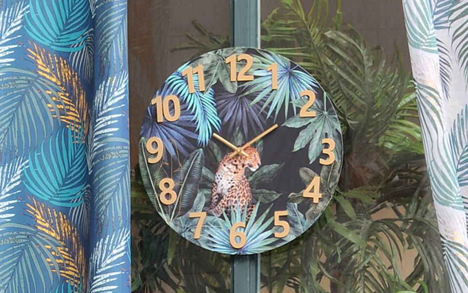 orologio a motivi jungle