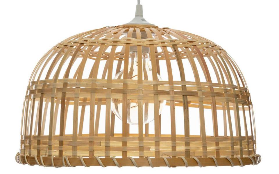 lampadario in bambù