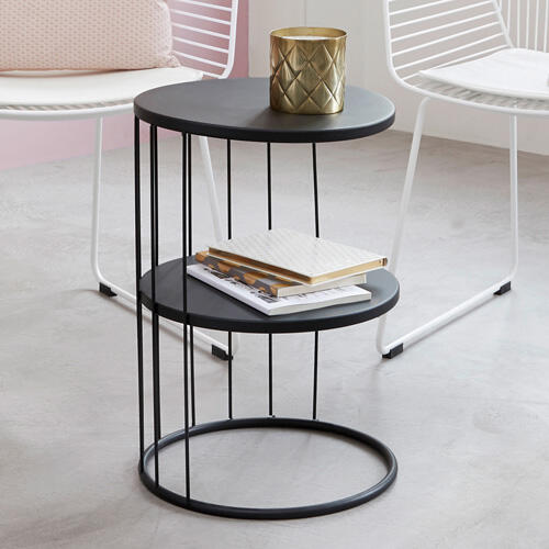 table d'appoint noire contemporaine