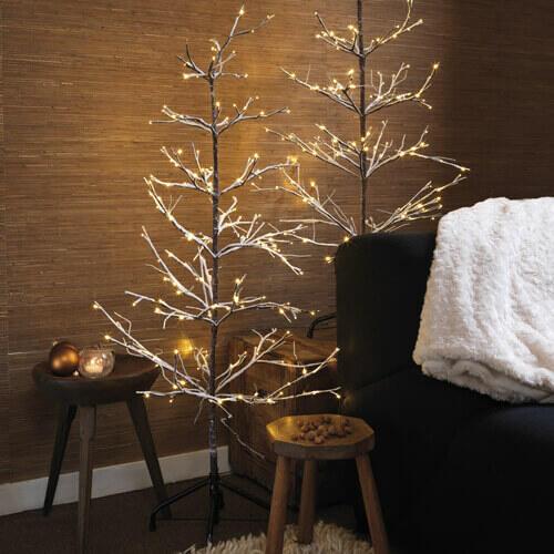 arbre de noel lumineux blanc chaud