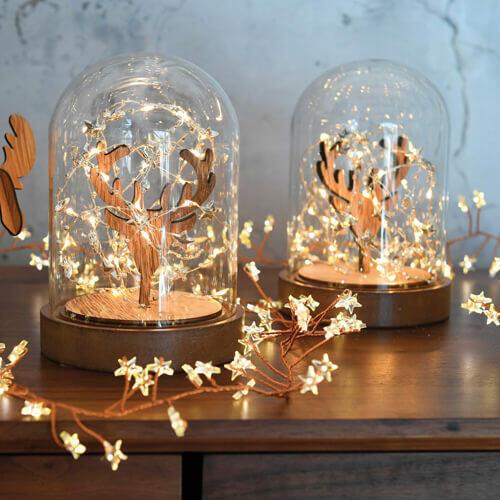 campana di vetro luminosa