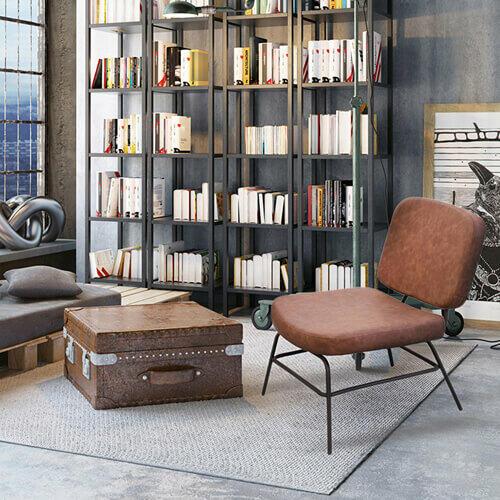 fauteuil vintage effet cuir