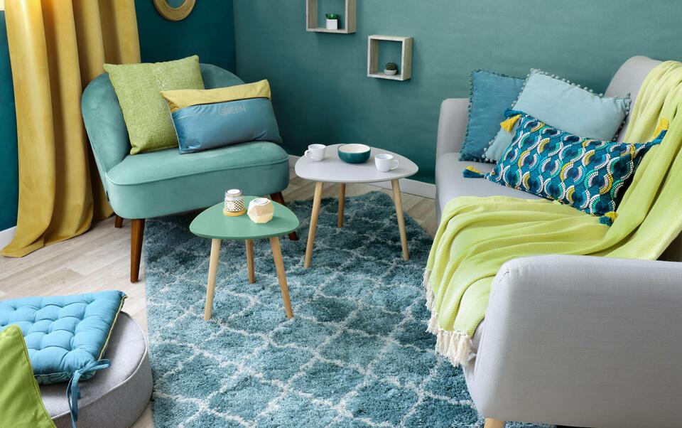 salon bleu vert