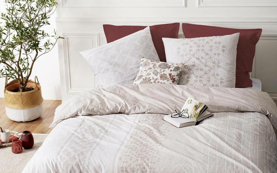 linge de lit coloré