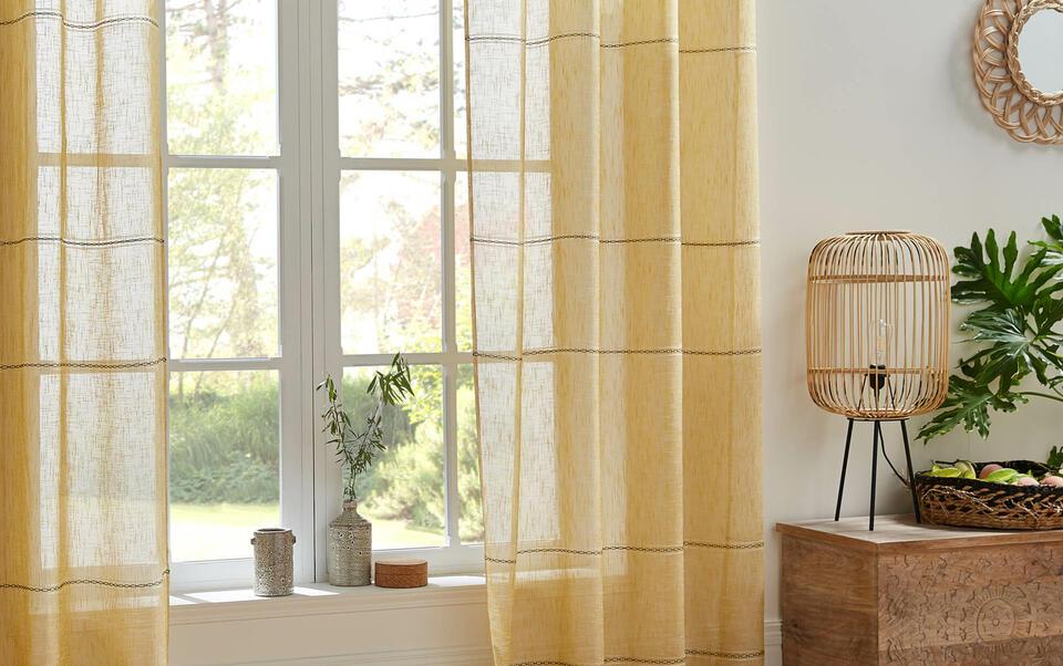 tenda trasparente gialla