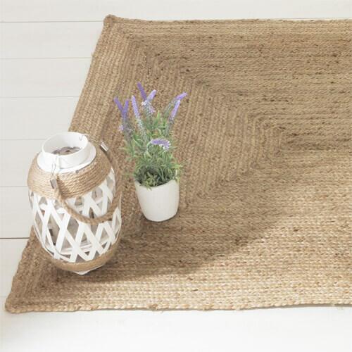tapis rectangulaire en jute