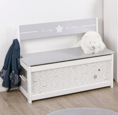 banc pour enfant avec coffre intégré