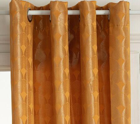 rideau motif japonais