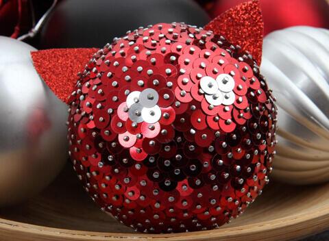 palline di Natale con lustrini
