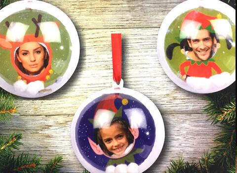 palline di Natale trasparenti per foto