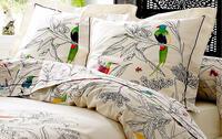 linge de lit motifs oiseaux