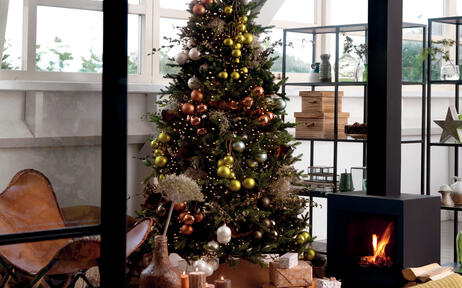Albero di Natale decorato