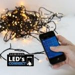Guirlande lumineuse Bluetooth 13,50 m Blanc froid 180 LED