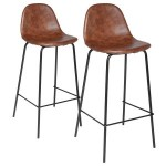 Lot de 2 tabourets de bar Vladi Marron