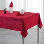 Nappe rectangulaire (L240 cm) Filiane Rouge