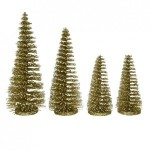 Lot de 4 sapins Ulrika Or